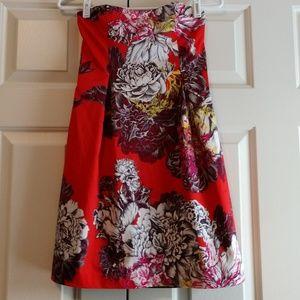 Anthropologie by Leifsdottir Dress Red Flower Sz 2